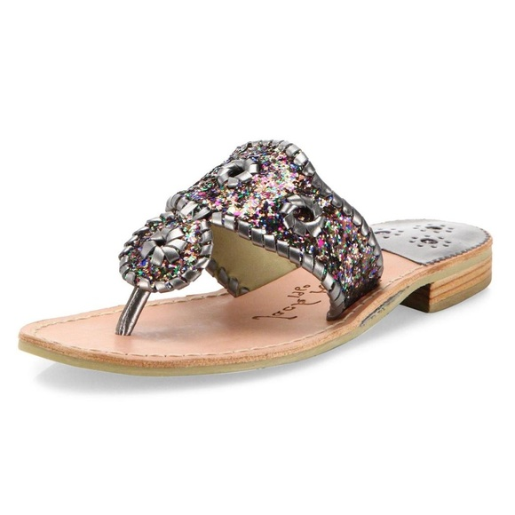 b1a7df1890a1 Jack Rogers Shoes - NEW Jack Rogers Cleo Sparkle Whipstitched Sandal